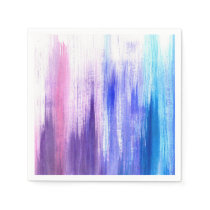 Pink Purple Paint Brush Strokes Painted Watercolor Paper Napkin