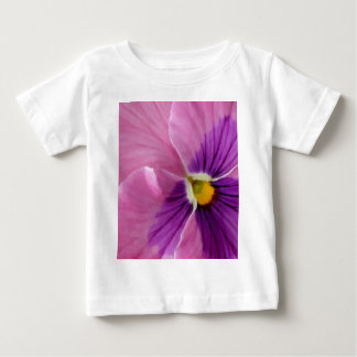 Pink Purple Pansy Flower Baby T-Shirt