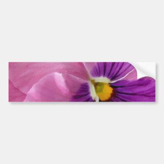 Pink Purple Pansy Flower Bumper Sticker