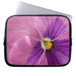 Pink Purple Pansy Flower Computer Sleeve