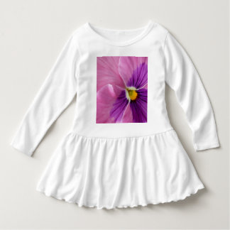 Pink Purple Pansy Flower Dress