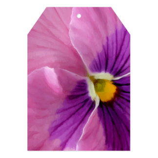 Pink Purple Pansy Flower Macro Personalized Invitations