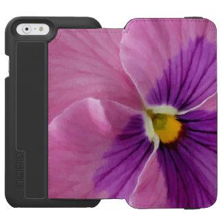 Pink Purple Pansy Flower Macro Incipio Watson™ iPhone 6 Wallet Case