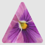 Pink Purple Pansy Flower Stickers
