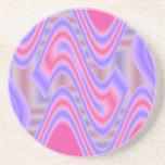 pink  purple pattern coaster