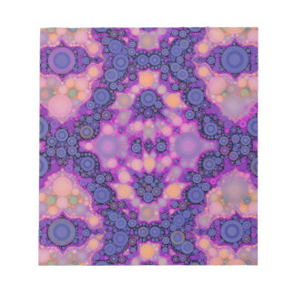 Pink Purple Peach Unique Abstract Notepad