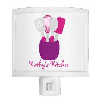 Pink & Purple Personalized Kitchen Night Lite