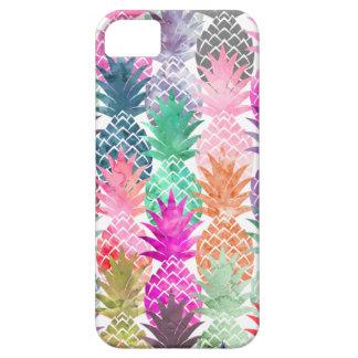 Pink purple pineapples pastel watercolor pattern iPhone SE/5/5s case