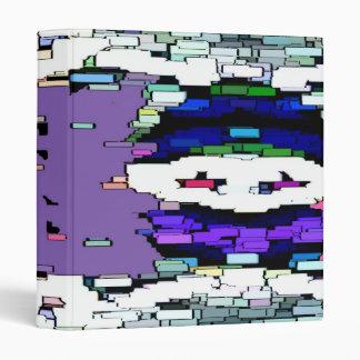 Pink Purple Pixel Binder