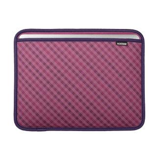 """Pink & Purple Plaid Custom MacBook Air 13"""" Sleeve MacBook Sleeves"""