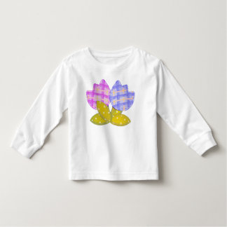 Pink & Purple Plaid Tulips Toddler T-shirt