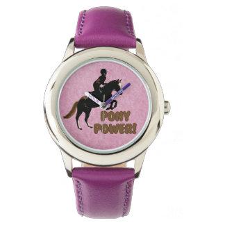 Pink & Purple Pony Power Watch