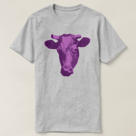 Pink & Purple Pop Art Cow T-Shirt