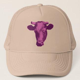 Pink & Purple Pop Art Cow Trucker Hat