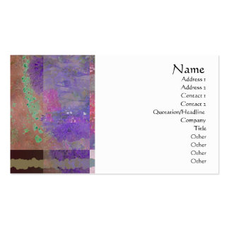 Pink & Purple Poppies Abstract Profile Card Business Card Template