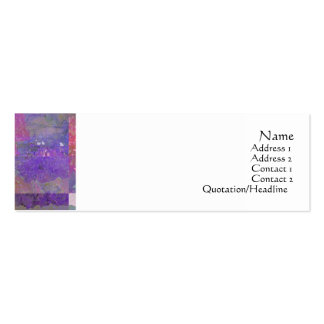 Pink & Purple Poppies Abstract Profile Card Business Cards