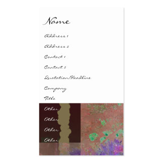 Pink & Purple Poppy Abstract Profile Card Business Cards