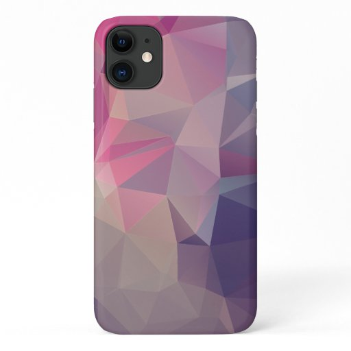 Pink Purple Pyramid Abstract Art Design iPhone 11 Case
