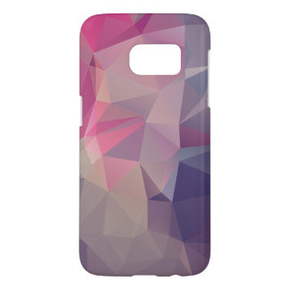 Pink Purple Pyramid Abstract Pattern Art Samsung Galaxy S7 Case