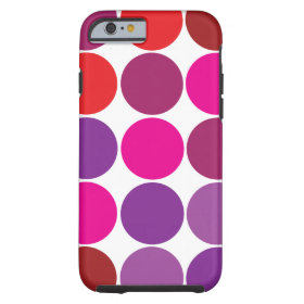 Pink Purple Red Polka Dots Circles iPhone 6 Case