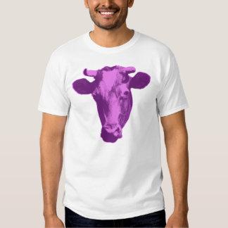Pink & Purple Retro Cow Graphic Dresses