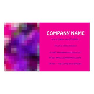 Pink, Purple, Royal Blue Business Card