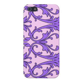 Pink Purple Scroll Filagree Case For iPhone 5