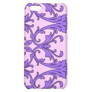 Pink Purple Scroll Filagree Cover For iPhone 5C