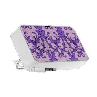 Pink Purple Scroll Filagree Mini Speaker