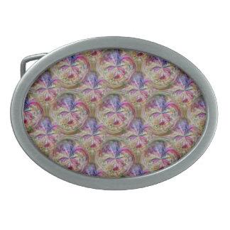 Pink, Purple Seamless Tile Pattern Bubbly Art Belt Buckle
