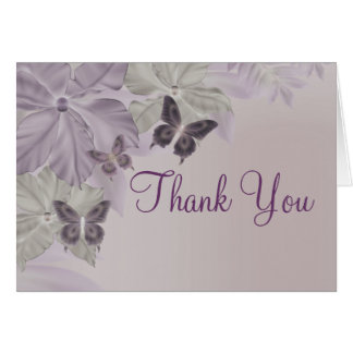 Pink & Purple Shimmer Butterfly Thank you card