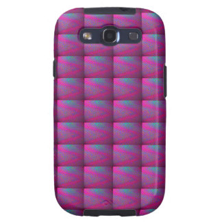 Pink Purple Silken Quilt Tiled Patchwork Pattern Samsung Galaxy SIII Covers