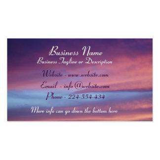 Pink Purple Sky Business Card
