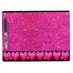 Pink Purple Sparkly Dry Erase Board Girly Fun 10