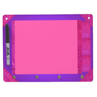 Pink Purple Sparkly Dry Erase Board Girly Fun 1a