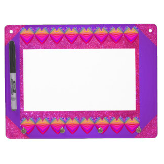 Pink Purple Sparkly Dry Erase Board Girly Fun 5a