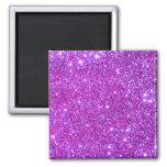 Pink Purple Sparkly Glam Glitter Designer 2 Inch Square Magnet