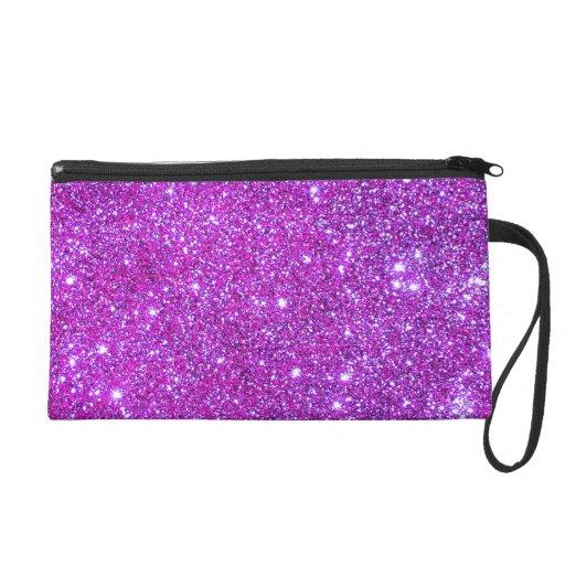 Pink Purple Sparkly Glam Glitter Designer Clutch Wristlet Purses