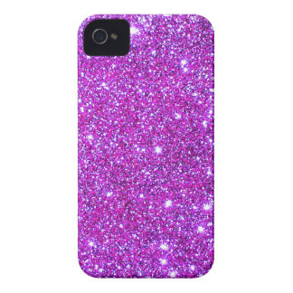 Pink Purple Sparkly Glam Glitter Designer iPhone 4 Case-Mate Case