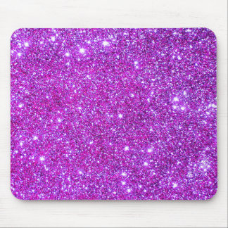 Pink Purple Sparkly Glam Glitter Designer Mouse Pad