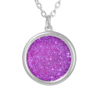 Pink Purple Sparkly Glam Glitter Designer Necklace