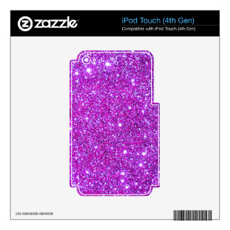 Pink Purple Sparkly Glam Glitter Designer Decals For iPod Touch 4G