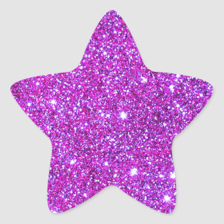 Pink Purple Sparkly Glam Glitter Designer Sticker