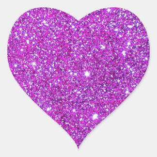 Pink Purple Sparkly Glam Glitter Designer Heart Sticker