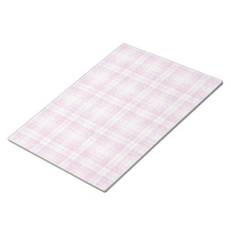 Pink & Purple Sparkly Plaid Notepad