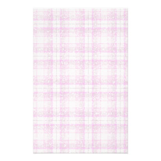 Pink & Purple Sparkly Plaid Stationery