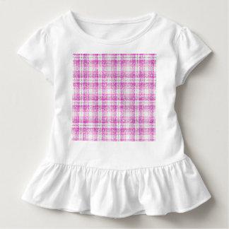 Pink & Purple Sparkly Plaid Tee Shirt