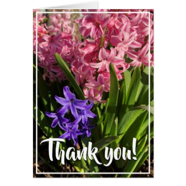 Pink & Purple Spring Blooms Thank You Card