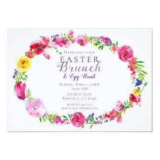 Pink & Purple Spring Flowers Floral Modern Invitation