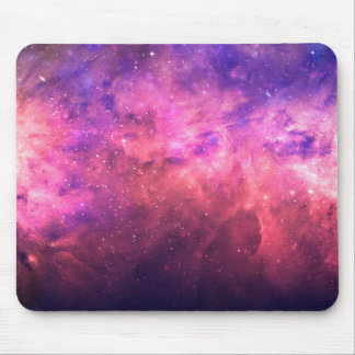 Pink Purple Starry Sky Cosmic Galaxy Sky Fire Glow Mouse Pad